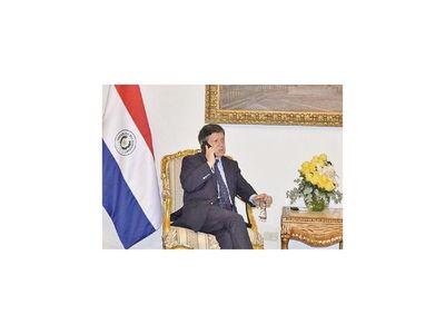 Canciller de Brasil saluda a Acevedo por  nombramiento
