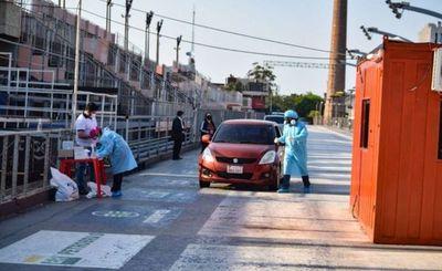 """Desalojan puesto de """"auto hisopado"""" en Encarnación"""