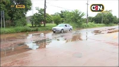 Significa peligro: Lluvia y pésimo estado de las calles