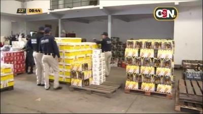 Incautan gran cantidad de cervezas presuntamente de contrabando