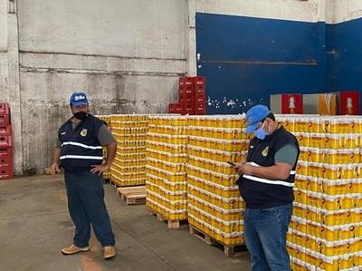 Incautan gran cantidad de cerveza ingresada de contrabando