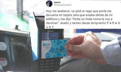 """Crónica / Asaltó a una yiyi, pero le devolvió su tarjeta Jaha """"por ser linda"""""""