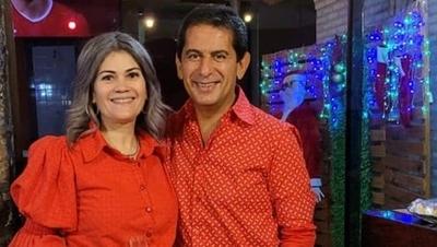 """HOY / Tras 'monumental' raje, esposa de Carlos Báez sale al paso: """"En breve le verán en otro medio"""""""