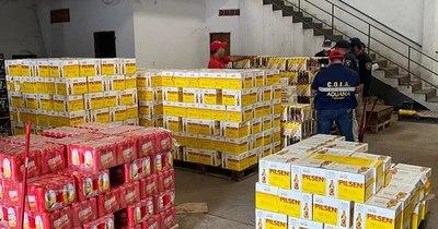 La Nación / Contrabando en San Lorenzo: incautan millonario cargamento de cervezas