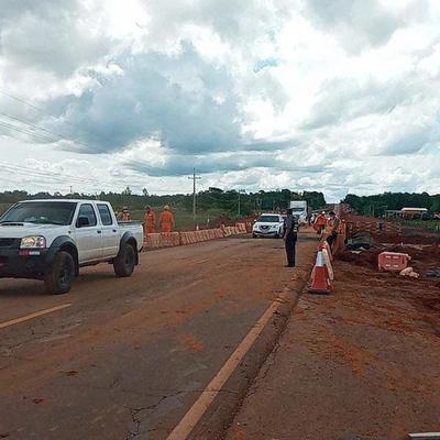 Ruta PY02: habilitan tránsito en ambos sentidos en el km 96 – Prensa 5