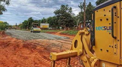 Caazapá: Construcción de asfalto tramo 3 de Mayo-Yuty en marcha