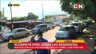 Accidente fatal sobre la avenida Las Residentas en Luque