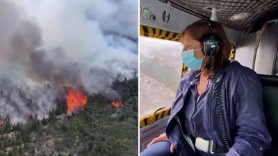 Un gran incendio devora más de 10.000 hectáreas de bosque patagónico en Argentina