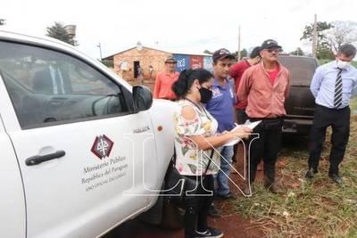 Juez y fiscal confirman presencia de invasores en propiedadprivada de Minga Guazú