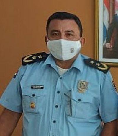 Policías de Torín, ahora de servicio en Caazapá