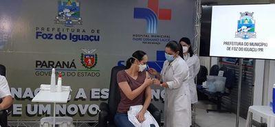Más de 2.000 personas ya recibieron la vacuna contra el Covid-19 en Foz de Yguazú