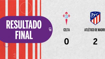 Atlético de Madrid fue superior y venció por dos a Celta en el Estadio de Balaídos