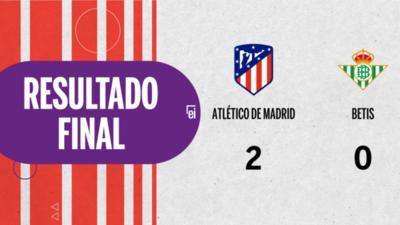 Atlético de Madrid derrotó a Betis 2 a 0