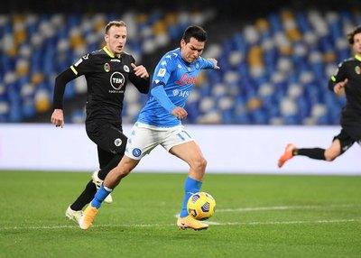 Napoli asegura su presencia en las semifinales de la Coppa Italia