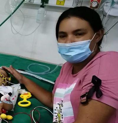 Piden ayuda económica para adquirir equipos respiratorios para un bebé de 10 meses