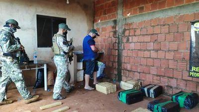 Senad allana una vivienda en Pedro Juan Caballero e incauta más de 350 kilos de marihuana