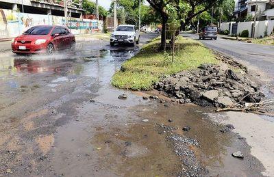 Calamitoso estado de Molas López, mientras intendente está en campaña