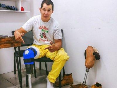 Una prótesis de pierna no fue obstáculo para un bombero