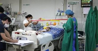 La Nación / Paciente pediátrico con AME es sometido a la asistencia respiratoria no invasiva