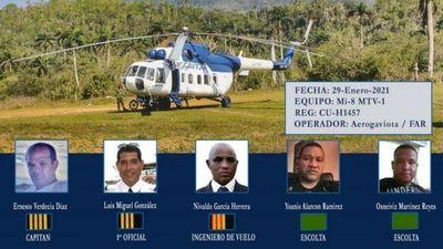 Cuba: Revelan identidad de fallecidos en accidente de helicóptero militar