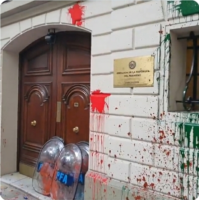 Nuevos ataques a sedes diplomáticas de Paraguay en Argentina
