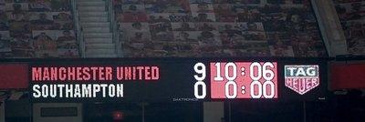 Manchester United y una paliza histórica ante el Southampton