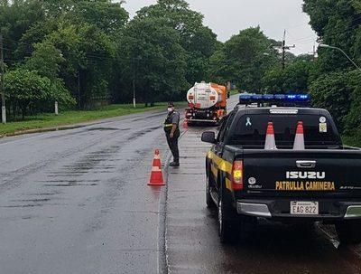 Patrulla Caminera reporta que sigue inhabilitada la ruta PY02 a la altura del km 88
