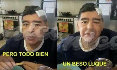 Dan a conocer el último video de Maradona antes de morir