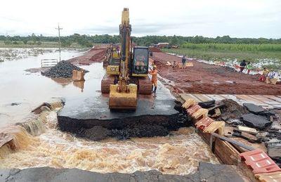 """Desde el MOPC culpan al """"cambio climático"""" por daños en rutas"""