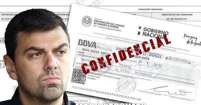 """La Nación / Lo confirma Seprelad: Cheque del """"amaño"""" salió de la cuenta personal de Trovato"""