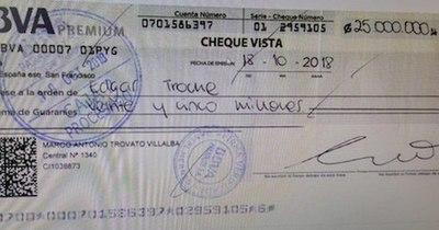 La Nación / El cheque pagado por Trovato, otra prueba que se confirma en el caso