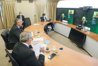 Presidentes del Mercosur y la UE buscan impulsar acuerdo comercial