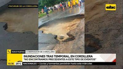 Cordillera: Tramo de Ruta PY02 en Itacurubí sigue bloqueado y Patrulla Caminera pide prudencia al circular por la zona