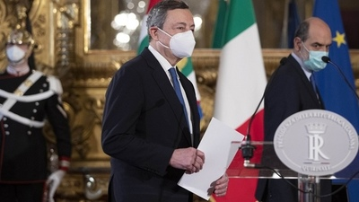 Draghi busca apoyos en todos los partidos para formar un Gobierno de unidad
