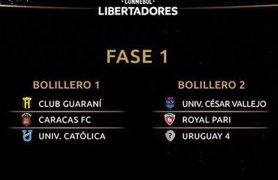 Seis equipos paraguayos, en el bolillero