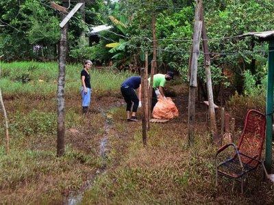Más de  500 viviendas  afectadas tras  desbordes de arroyos en CDE