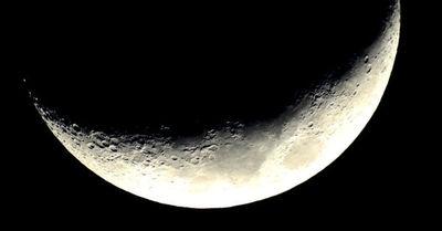 El momento exacto en el que el cohete de SpaceX pasa frente a la Luna