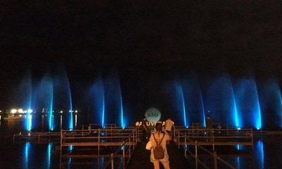 Muelle y show de luces en la costanera, opción del verano Asunceno