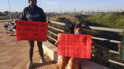 HOY / Pobladores del Bañado Norte exigen reparación de las calles de la zona