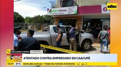 Balacera e intento de asalto a un empresario en Caacupé