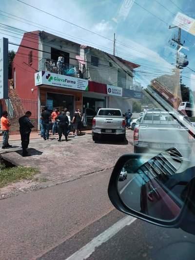 Reportan intento de asalto con balacera en Caacupé