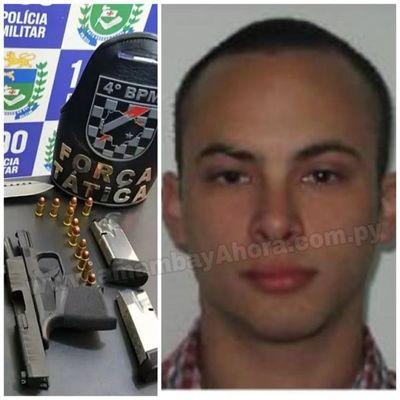 Piloto Paraguayo imputado por tenencia ilegal de arma en Ponta Porã.