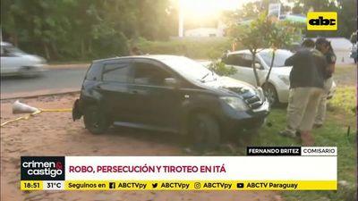 Robo, persecución y tiroteo en Itá