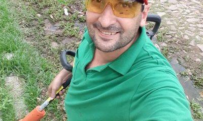 Ciudadano Lambareño corta gratis el pasto en baldíos para luchar contra el Dengue