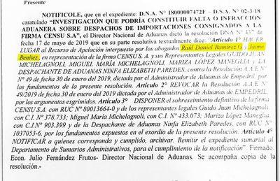 Estudio jurídico de Villamayor salvó a importador de millonario pago al fisco