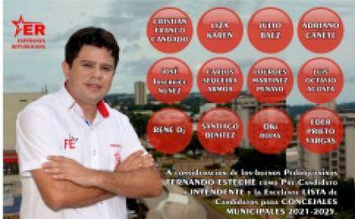 Fernando Esteche inscribió su candidatura para la Intendencia de Pedro Juan