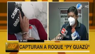 """Detienen a """"Roque py guasu"""", uno de los más buscados"""