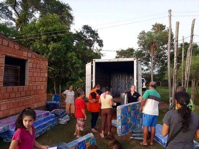 Más de 4.000 familias afectadas por los temporales, fueron asistidas