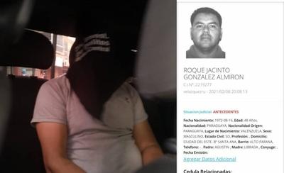 HOY / Capturan al peligroso Roque ''Py Guasu'', uno de los criminales más escurridizos