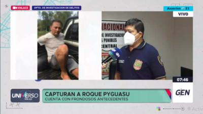 """HOY / Capturan a Roque """"Py Guasu"""" González, cuenta con frondosos antecedentes"""